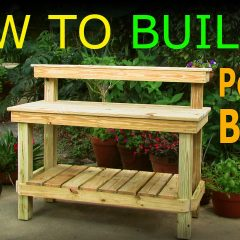 [Ideas] DIY How To Build A Beautiful Garden Potting Bench